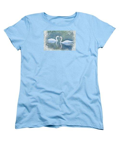Festive Swan Love Women's T-Shirt (Standard Cut) by Diane Alexander
