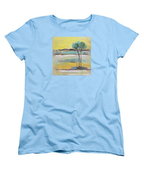 Women's T-Shirt (Standard Cut) featuring the painting Standing In Distance by Becky Kim