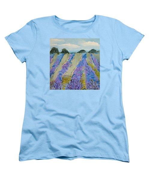 Fields Of Lavender Women's T-Shirt (Standard Cut)