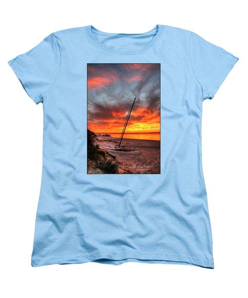 Fiery Sunset Women's T-Shirt (Standard Cut) by John Loreaux