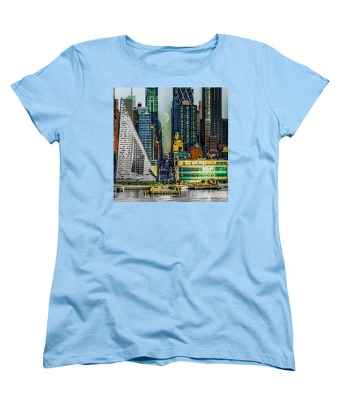 Women's T-Shirt (Standard Cut) featuring the photograph Fifty-seventh Street Fantasy by Chris Lord