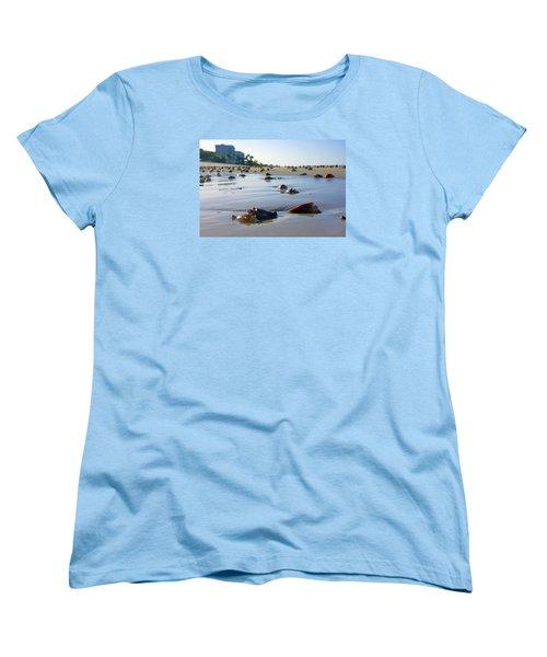 Fighting Conchs On The Beach In Naples, Fl Women's T-Shirt (Standard Cut)