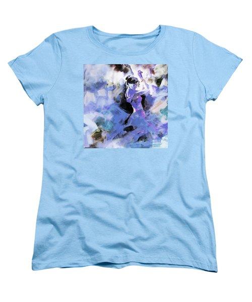 Women's T-Shirt (Standard Cut) featuring the painting Figurative Dance Art 509w by Gull G