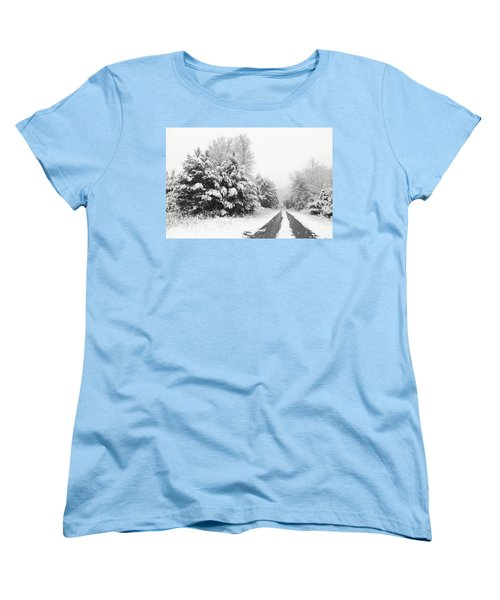 Women's T-Shirt (Standard Cut) featuring the photograph Find A Pretty Road by Lori Deiter