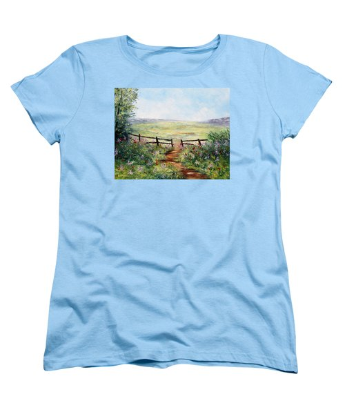 Finding Pasture Women's T-Shirt (Standard Cut) by Meaghan Troup
