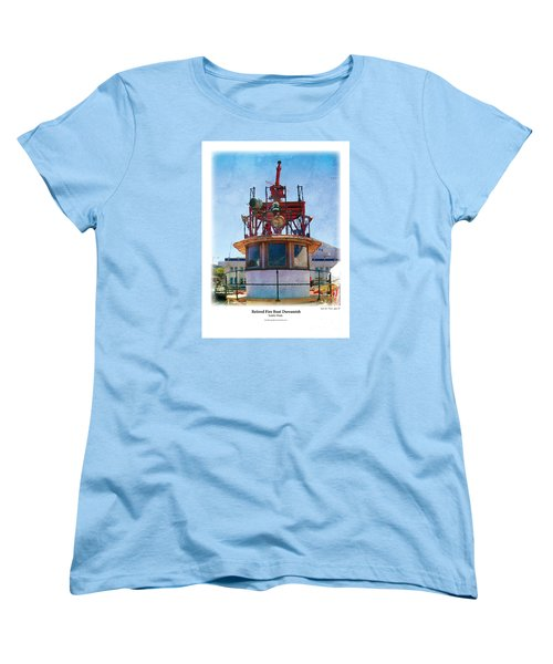 Women's T-Shirt (Standard Cut) featuring the painting Fire Boat by Kenneth De Tore