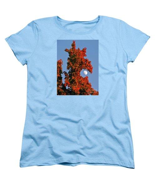Fire Dragon Tree Eats Moon Women's T-Shirt (Standard Cut) by CML Brown