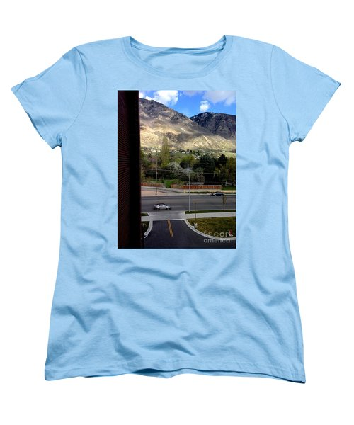 Fire Hydrant Guarding The Byu Y Women's T-Shirt (Standard Cut) by Richard W Linford