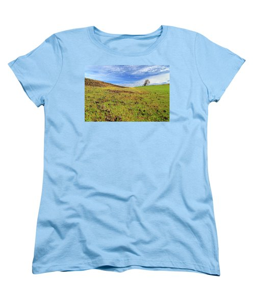 Women's T-Shirt (Standard Cut) featuring the photograph First Flowers On North Table Mountain by James Eddy