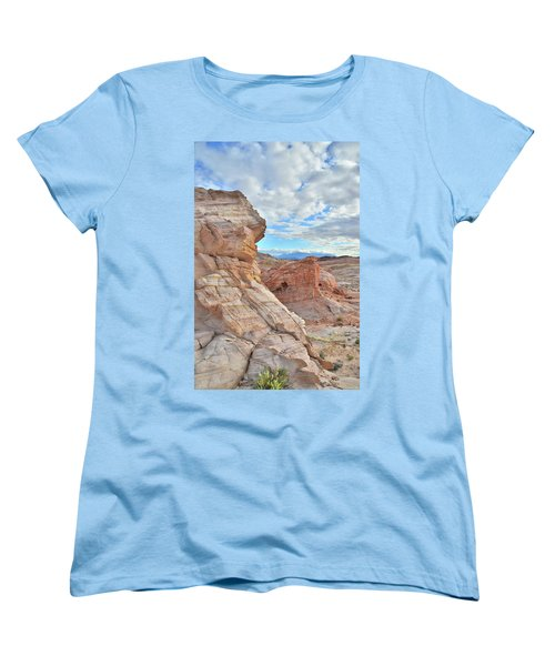 First Light On Valley Of Fire Women's T-Shirt (Standard Cut) by Ray Mathis