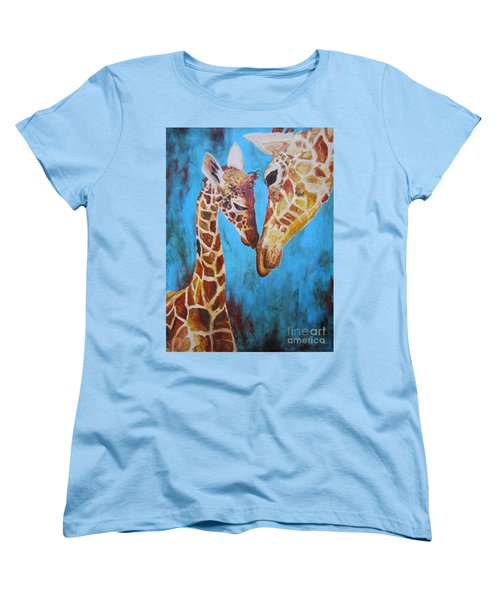 Women's T-Shirt (Standard Cut) featuring the painting First Love by Ashley Price