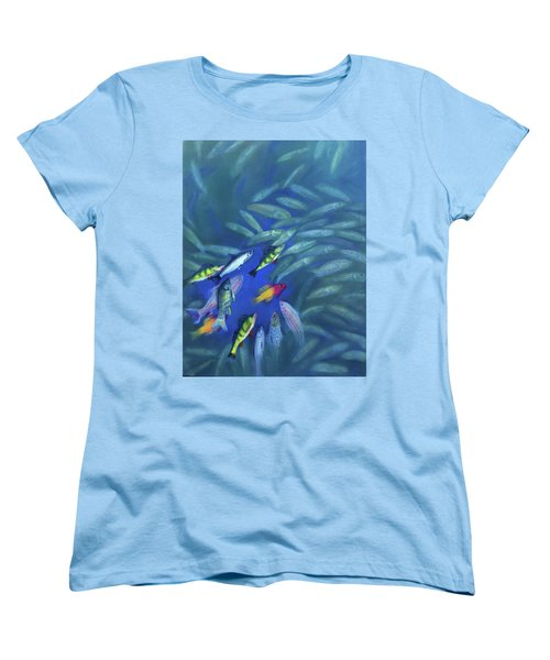 Fish Bowl Women's T-Shirt (Standard Cut)