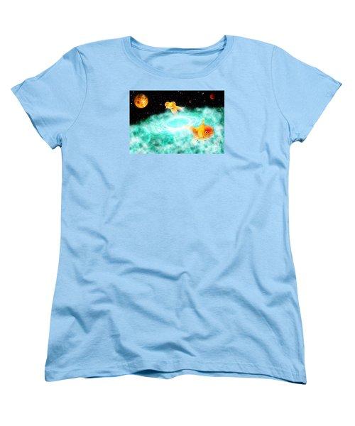 Women's T-Shirt (Standard Cut) featuring the digital art Zen Fish Dream by Olga Hamilton