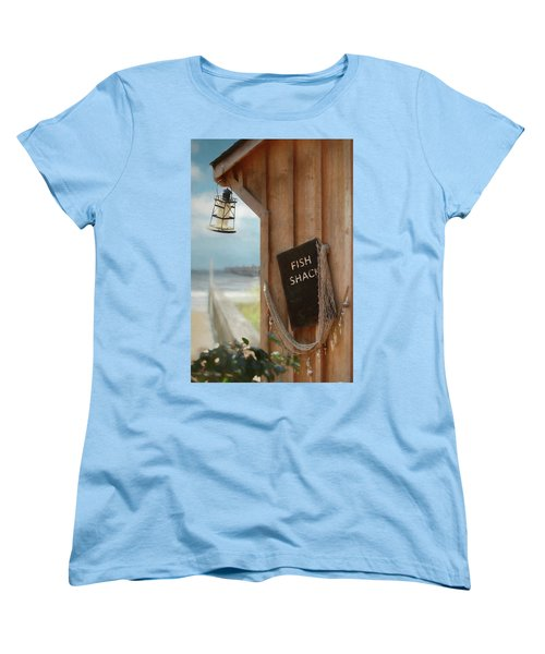 Women's T-Shirt (Standard Cut) featuring the photograph Fish Fileted by Lori Deiter