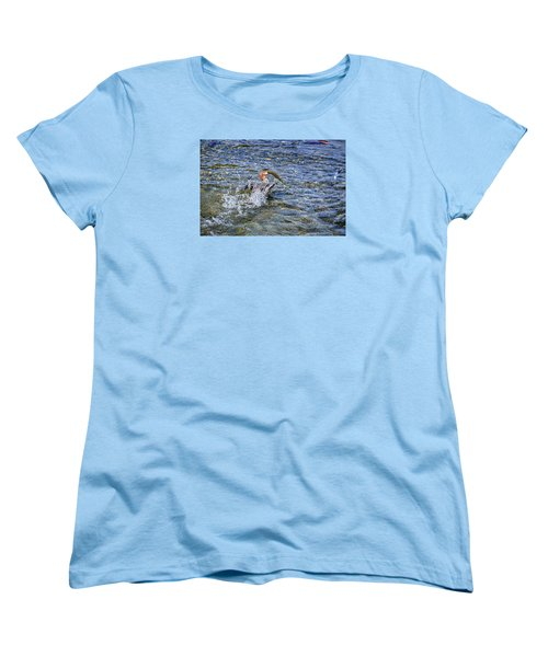 Women's T-Shirt (Standard Cut) featuring the photograph Fish Gulp by David Lawson