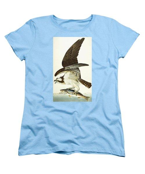 Fish Hawk Women's T-Shirt (Standard Cut) by John James Audubon