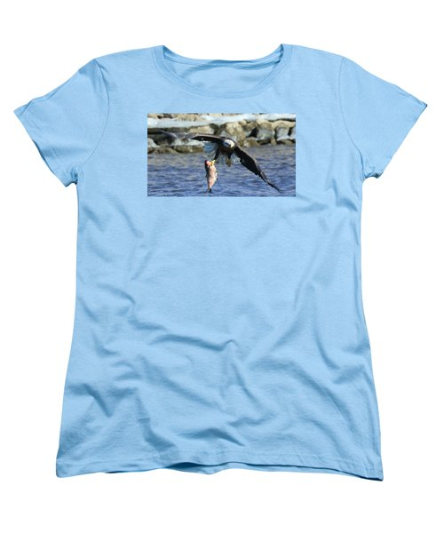 Fish In Hand Women's T-Shirt (Standard Cut) by Coby Cooper