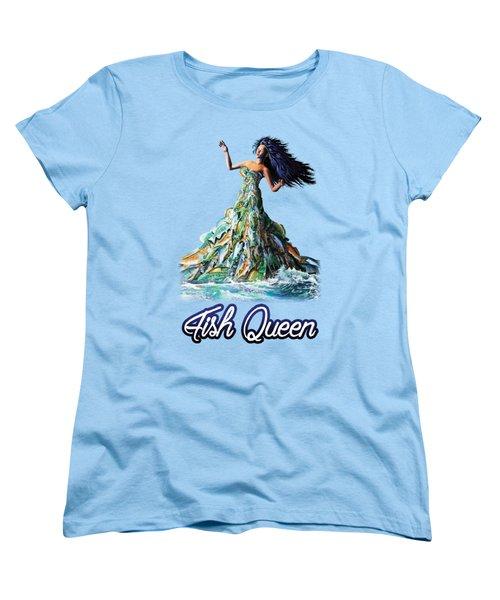 Fish Queen Women's T-Shirt (Standard Cut) by Anthony Mwangi