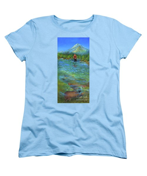 Fish Story Women's T-Shirt (Standard Cut) by Jeanette French