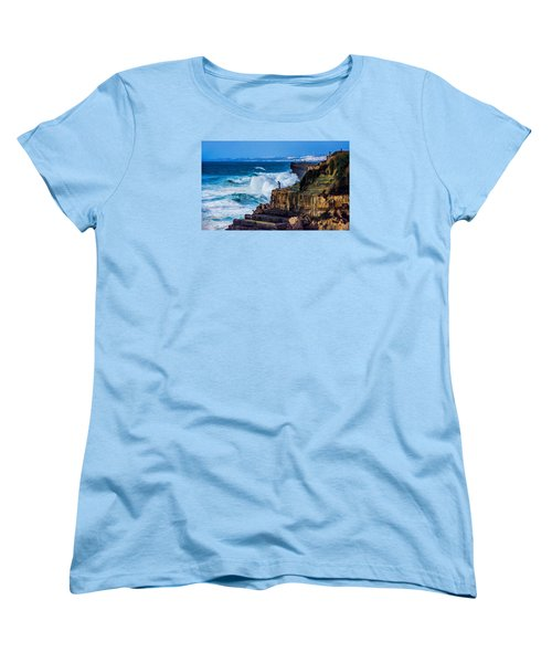Women's T-Shirt (Standard Cut) featuring the photograph Fisherman And The Sea by Marion McCristall