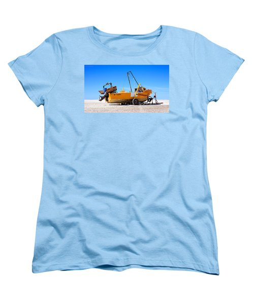 Women's T-Shirt (Standard Cut) featuring the photograph Fishing Boat by Silvia Bruno