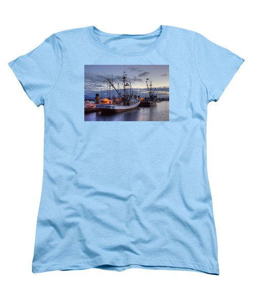 Fishing Fleet Women's T-Shirt (Standard Cut) by Randy Hall
