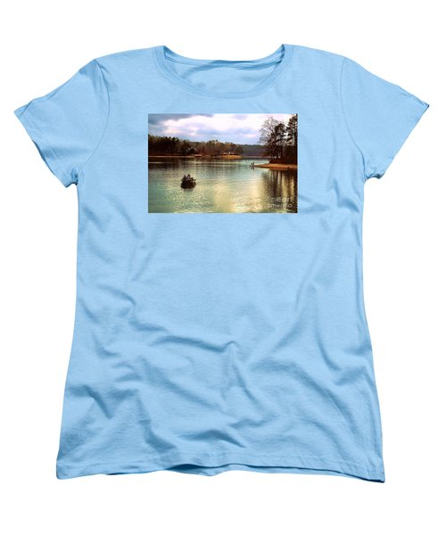Women's T-Shirt (Standard Cut) featuring the photograph Fishing Hot Springs Ar by Diana Mary Sharpton