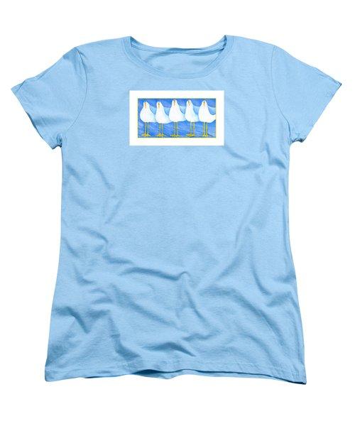 Five Seagulls Women's T-Shirt (Standard Cut) by Pat Olson