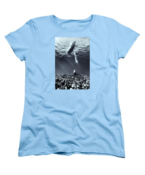 Fla-151028-nd800e-107-bw-selenium Women's T-Shirt (Standard Cut) by Fernando Lopez Arbarello