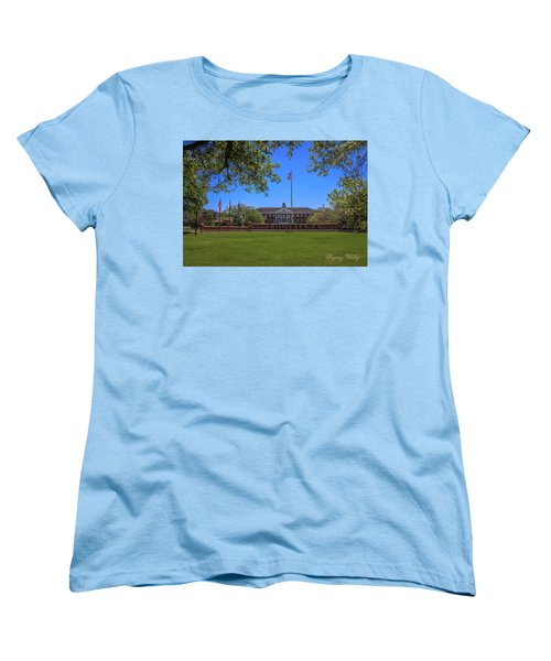 Women's T-Shirt (Standard Cut) featuring the photograph Flag At Entrance by Gregory Daley  PPSA