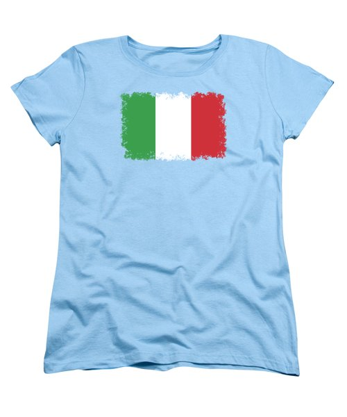 Women's T-Shirt (Standard Cut) featuring the digital art Flag Of Italy by Bruce Stanfield