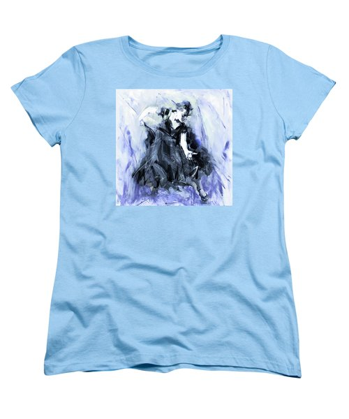 Women's T-Shirt (Standard Cut) featuring the painting Flamenco Dancer Art 45h by Gull G