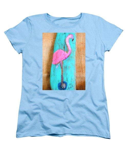 Flamingo Women's T-Shirt (Standard Cut) by Ann Michelle Swadener