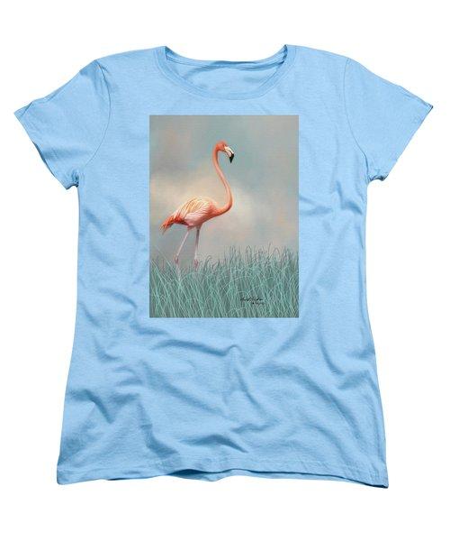 Flamingo Women's T-Shirt (Standard Cut) by Lena Auxier