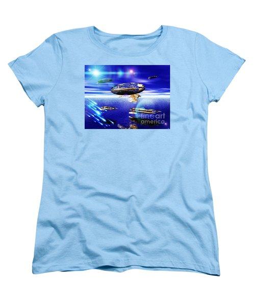 Women's T-Shirt (Standard Cut) featuring the digital art Fleet Lomo by Jacqueline Lloyd