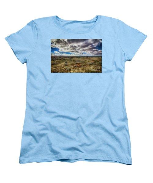 Women's T-Shirt (Standard Cut) featuring the photograph Flinders Ranges Fields  by Douglas Barnard