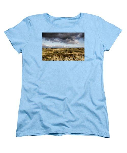 Women's T-Shirt (Standard Cut) featuring the photograph Flinders Ranges Fields V3 by Douglas Barnard