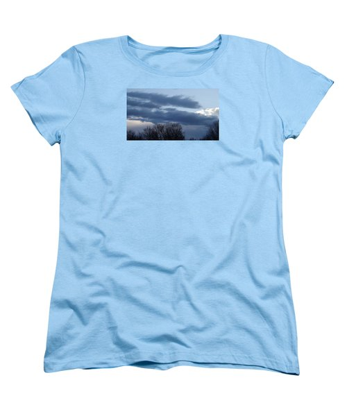 Women's T-Shirt (Standard Cut) featuring the photograph Floating Blue Clouds by Don Koester