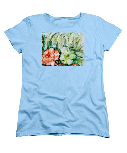 Floating Flowers 3 Women's T-Shirt (Standard Cut) by Laurie Morgan