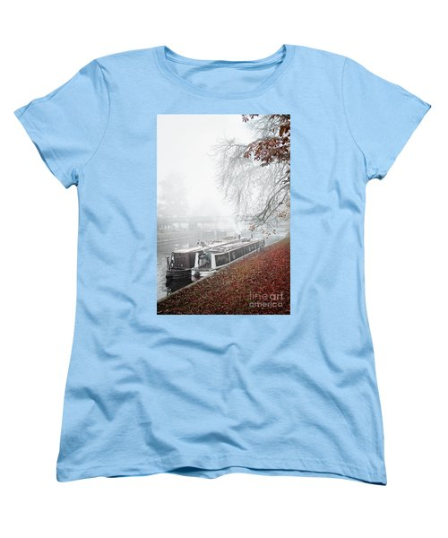 Floating Homes Of  River Cam Women's T-Shirt (Standard Cut) by Eden Baed