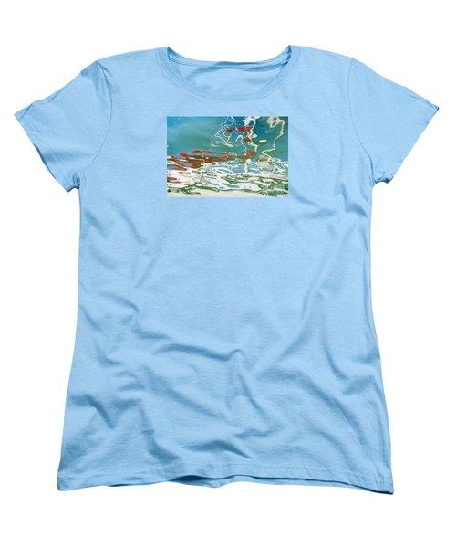 Floating On Blue 35 Women's T-Shirt (Standard Cut) by Wendy Wilton
