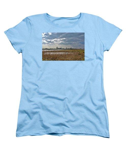 Floodplains Near Culemborg Women's T-Shirt (Standard Cut) by Frans Blok