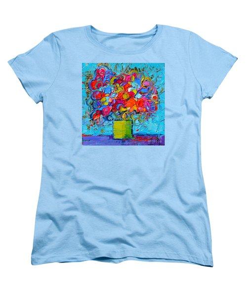 Floral Miniature - Abstract 0415 Women's T-Shirt (Standard Cut)