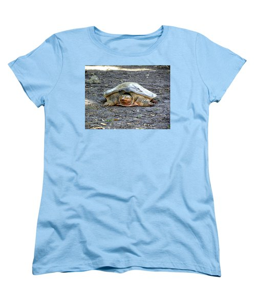 Women's T-Shirt (Standard Cut) featuring the photograph Florida Softshell Turtle 002 by Chris Mercer