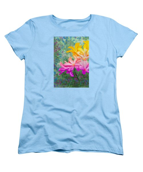 God Made Art In Flowers Women's T-Shirt (Standard Cut) by Manjot Singh Sachdeva