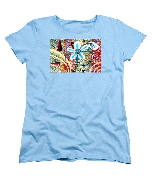Flower And Ant Women's T-Shirt (Standard Cut) by Luke Galutia