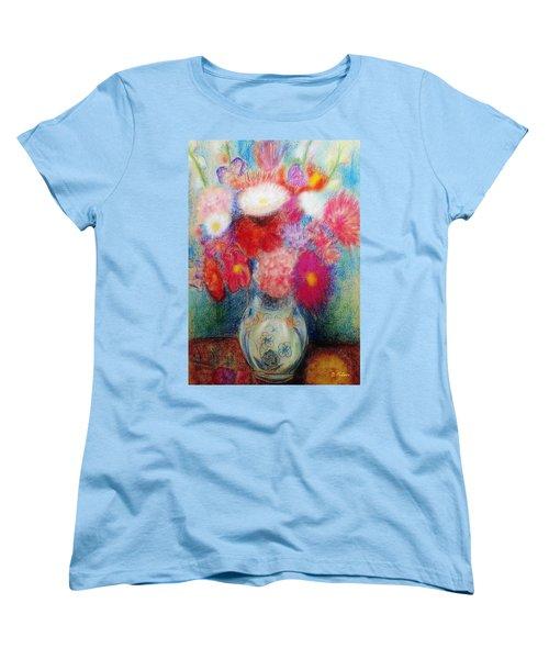Flower Arrangement Women's T-Shirt (Standard Cut) by Denise Fulmer