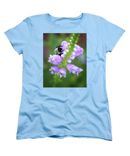Flower Climbing Women's T-Shirt (Standard Cut) by Eduard Moldoveanu
