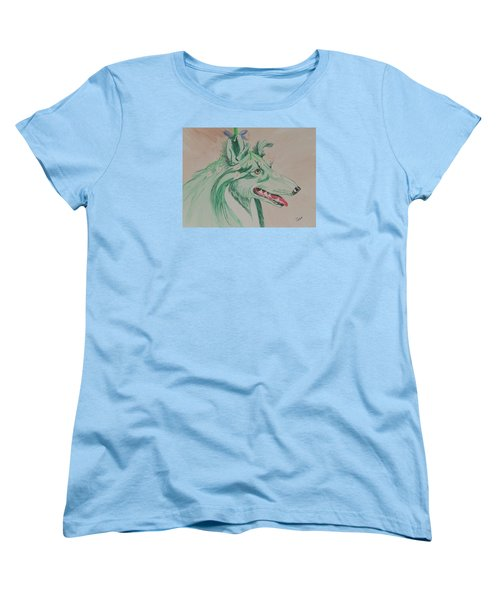 Flower Dog # 11 Women's T-Shirt (Standard Cut) by Hilda and Jose Garrancho
