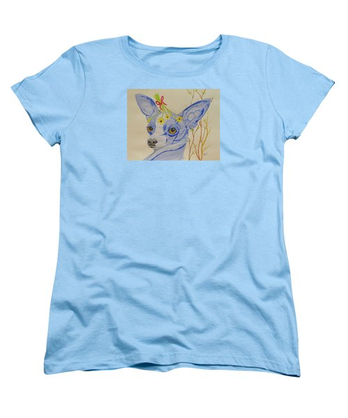 Flower Dog 7 Women's T-Shirt (Standard Cut) by Hilda and Jose Garrancho